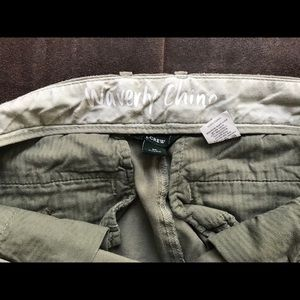 J. Crew army green Waverly chino